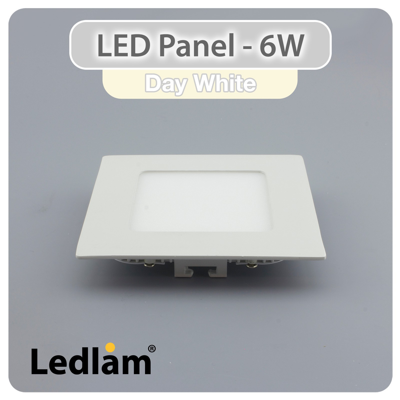 10er set led panel weiss quadratisch 12 x 12cm 6 watt neutralwei. Black Bedroom Furniture Sets. Home Design Ideas