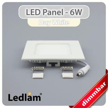 10er Set LED Einbaustrahler Panel weiss quadratisch 12 x 12cm 6 Watt neutralweiß dimmbar mit Led Dimmer – Bild 2