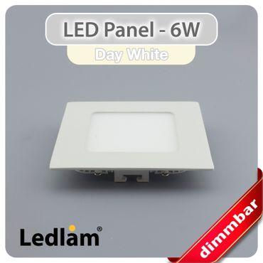 10er Set LED Einbaustrahler Panel weiss quadratisch 12 x 12cm 6 Watt neutralweiß dimmbar mit Led Dimmer