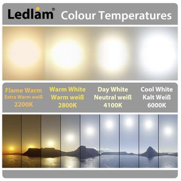 10x Aktionspack Set LED Deckenleuchte weiß 6 Watt quadratisch  12x12cm - warmweiß – Bild 4