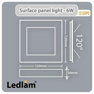 10x Aktionspack Set LED Deckenleuchte weiß 6 Watt quadratisch  12x12cm - warmweiß - dimmbar mit LED Dimmer – Bild 2