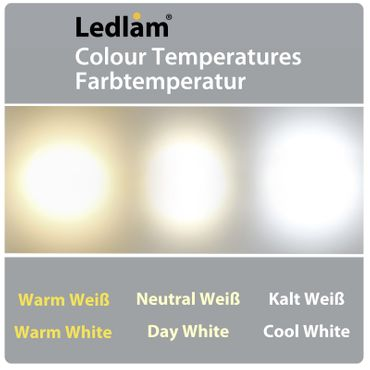 3er Set LED Einbaustrahler Panel silber rund Ø 12cm 6 Watt warmweiß dimmbar mit Led Dimmer – Bild 6