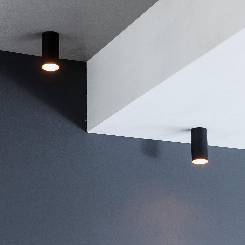 lampe gold schwarz aufbau deckenstrahler rund gu10. Black Bedroom Furniture Sets. Home Design Ideas