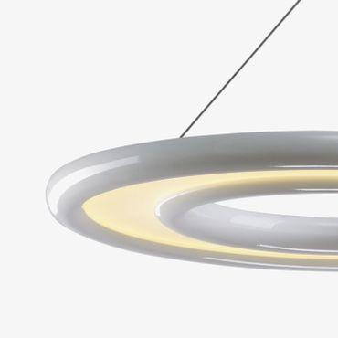LED Pendelleuchte Ringform weiß lackiert – Bild 2