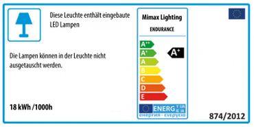 LED Pendelleuchte Ringform weiß lackiert – Bild 7