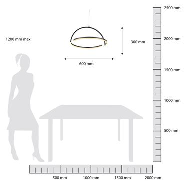LED Pendelleuchte Halbkugel 60cm weiß lackiert - dimmbar mit Funkfernbedienung – Bild 6