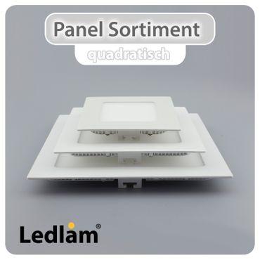3er Set LED Einbaustrahler weiß Ø 12cm rund 6 Watt warmweiß – Bild 6