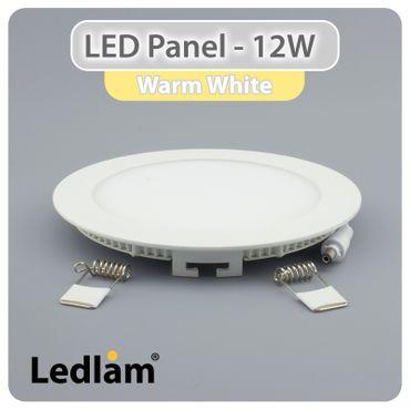 3er Set LED Einbaustrahler weiß 17cm rund 12 Watt warmweiß – Bild 2