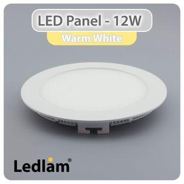 3er Set LED Einbaustrahler weiß 17cm rund 12 Watt warmweiß – Bild 1