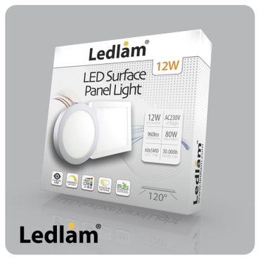 10 Stück Vorteilspack LED Deckenleuchte weiß quadratisch 17*17cm 12 Watt (80 Watt) 960 Lumen 3000K warmweiß dimmbar mit LED Dimmer – Bild 2