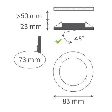 3er SET Einbaurahmen rund schwenkbar - weiß - GU10 – Bild 2