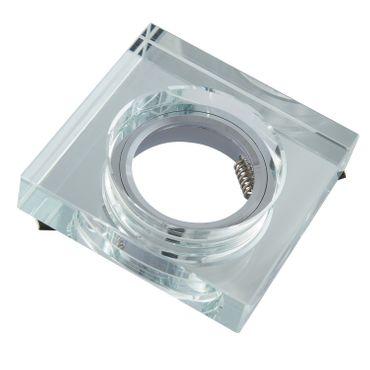 10er SET Einbaurahmen eckig - Premium Spiegelglas dick - Aluminium - GU10 – Bild 1