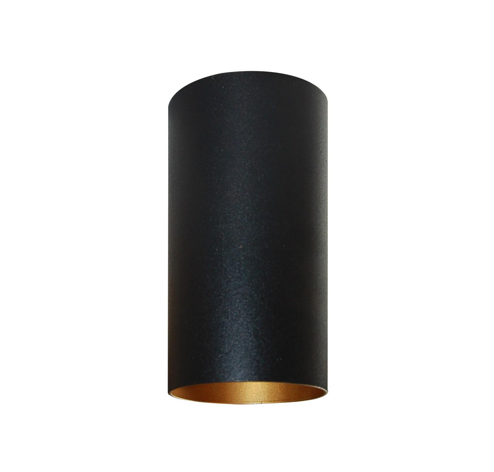 lampe gold schwarz aufbau deckenstrahler rund 10er set gu10. Black Bedroom Furniture Sets. Home Design Ideas
