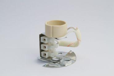 Lampe Gold & schwarz, Aufbau-Deckenstrahler, rund, 10er-Set, GU10 – Bild 3