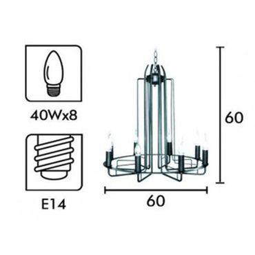 Moderne Tischlampe Amin Braun/Opalglas – Bild 3