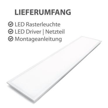 2er Pack - B-Ware LED Einbauleuchte 36W rechteckig 30x120 Rahmenfarbe weiß - warmweiß – Bild 3