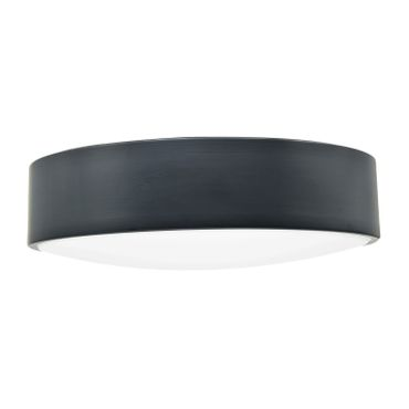LED Deckenleuchte Metallschirm, 40cm, dunkelgrau, LED Modul 24 Watt warmweiß  – Bild 1