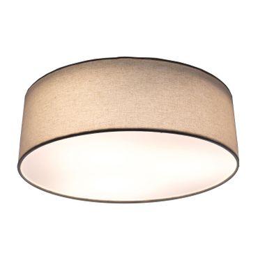 LED Deckenleuchte Textil rund, 39cm, weiß, LED Modul 24 Watt warmweiß  – Bild 1
