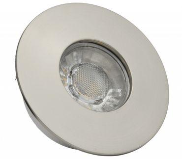 10er Pack - LED Einbaustrahler rund Alu gebürstet IP44 spritzwassergeschützt 4 Watt warmweiß – Bild 1