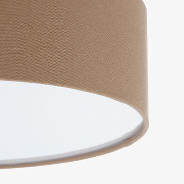 LED Deckenleuchte Textil 39cm, hellbraun, LED Modul 24 Watt warmweiß  – Bild 3