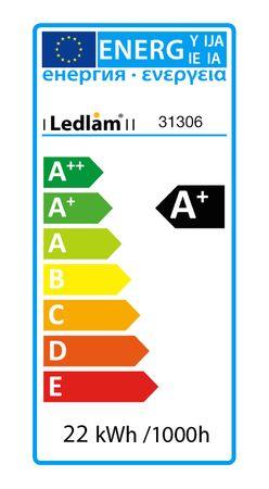 LED Deckenleuchte - weiß - 22 Watt eckig 17x17cm warmweiß – Bild 5
