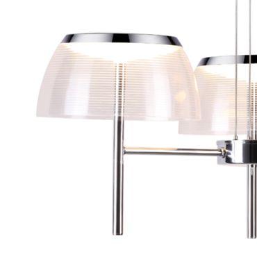 LED Pendelleuchte 3 flammig, 3 fach Seilabhängung, chrom – Bild 2