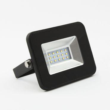LED Fluter Baustrahler 10 Watt Schwarz - neutralweiß – Bild 1
