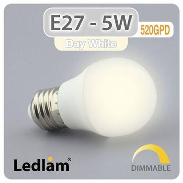 E27 LED Lampe 5 Watt neutralweiß dimmbar – Bild 1