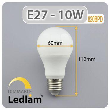 E27 LED Birne 10 Watt dimmbar warmweiß – Bild 3