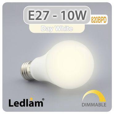 E27 LED Lampe 10 Watt dimmbar neutralweiß – Bild 1