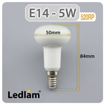 E14 R50 LED Reflektor 5 Watt warmweiß – Bild 3