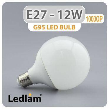 E27 LED Lampe G95 Globe 12 Watt neutralweiß – Bild 2