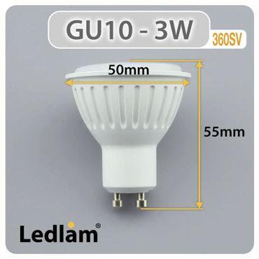 GU10 LED Spot 3 Watt warmweiß – Bild 3