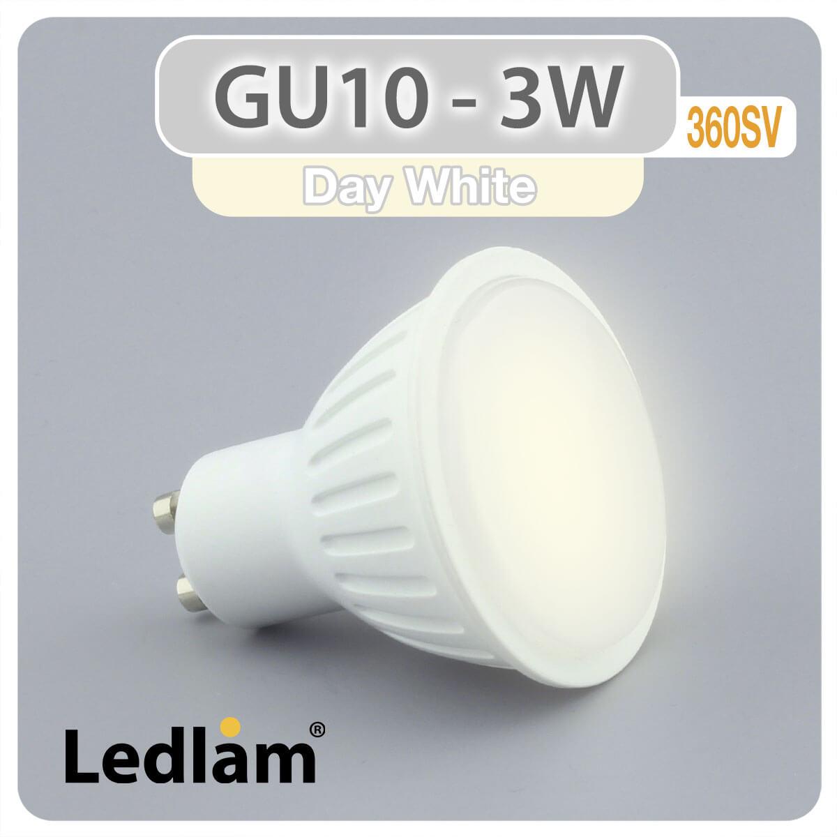 gu10 led spot 3 watt neutralwei. Black Bedroom Furniture Sets. Home Design Ideas