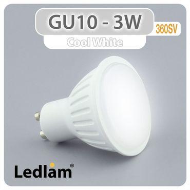 GU10 LED Spot 3 Watt kaltweiß – Bild 1