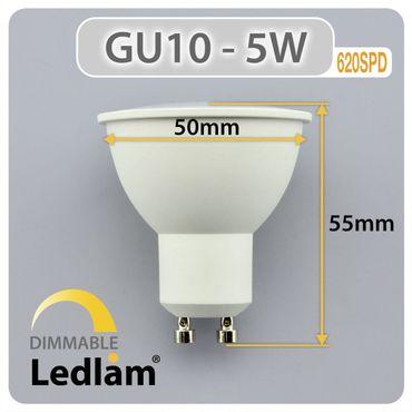 GU10 LED Spot 5 Watt dimmbar neutralweiß – Bild 3