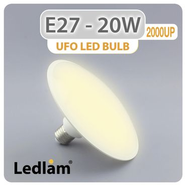 E27 LED Lampe UFO 20 Watt warmweiß – Bild 1