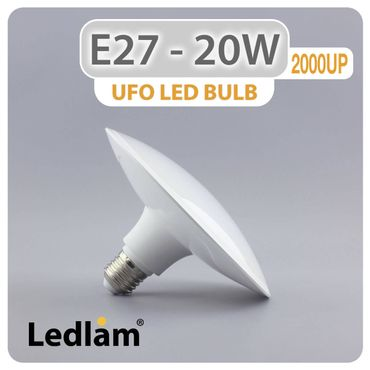 E27 LED Lampe UFO 20 Watt warmweiß – Bild 2