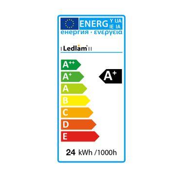 LED Aufbauleuchte 24 Watt quadratisch 30x30cm - Design - Alu gebürstet - warmweiß – Bild 7