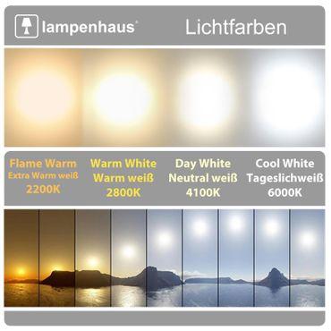 LED Aufbauleuchte 24 Watt rund 30cm - Design - weiß - warmweiß - dimmbar – Bild 6