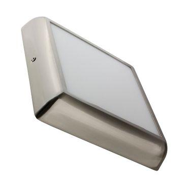 LED Aufbauleuchte 18 Watt quadratisch 22x22cm Design - Alu gebürstet - warmweiß - dimmbar – Bild 1