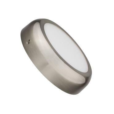 LED Aufbauleuchte 12 Watt rund 17cm Design - Alu gebürstet - neutralweiß – Bild 1