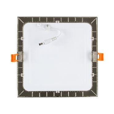 LED Einbaustrahler 12 Watt quadratisch 17x17cm Alu gebürstet - neutralweiß – Bild 3