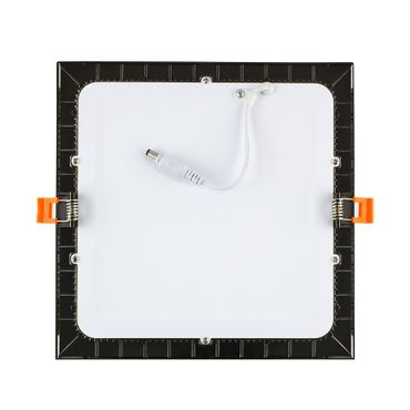 LED Einbaustrahler 12 Watt quadratisch 17x17cm schwarz chrom - warmweiß – Bild 2