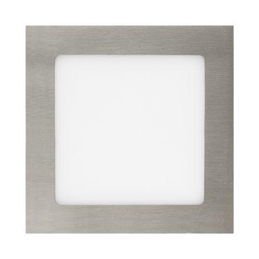 LED Einbaustrahler 12 Watt quadratisch 17x17cm Alu gebürstet - neutralweiß - dimmbar – Bild 2