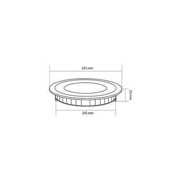LED Einbaustrahler 18 Watt rund 22cm Alu gebürstet - neutralweiß - dimmbar – Bild 5