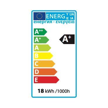 LED Einbaustrahler 18 Watt quadratisch 22x22cm Alu gebürstet - warmweiß - dimmbar – Bild 6