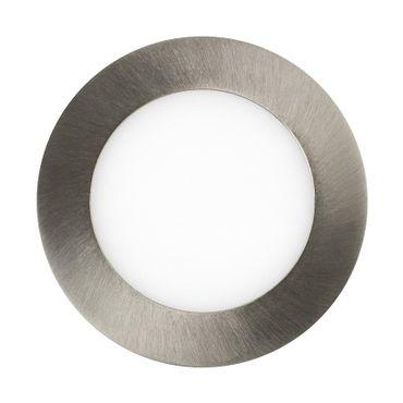 LED Einbaustrahler 6 Watt rund 12cm Alu gebürstet - neutralweiß - dimmbar – Bild 2