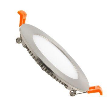 LED Einbaustrahler 6 Watt rund 12cm Alu gebürstet - neutralweiß - dimmbar – Bild 1