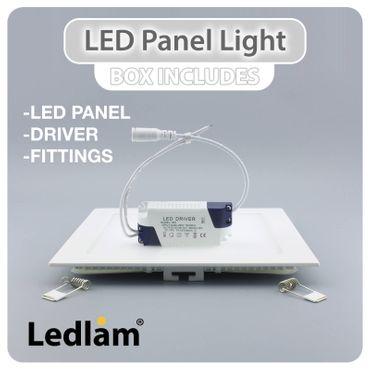 LED Einbaustrahler 6 Watt quadratisch 12x12cm Alu gebürstet - neutralweiß - dimmbar – Bild 5